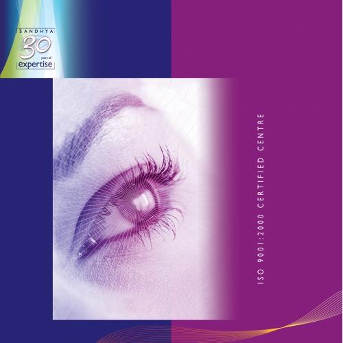 Eye Hospital File Cover design