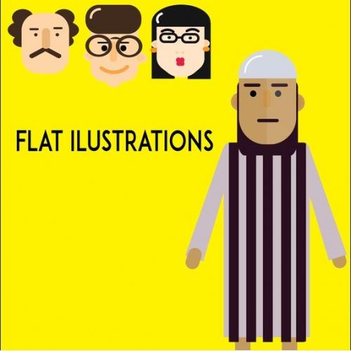 Flat ilustrations