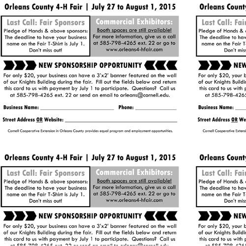 County Fair Sponsorship Postcard